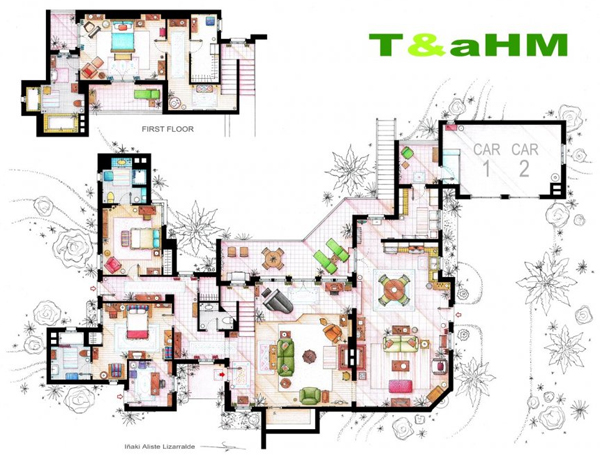 Two and a half men house plan